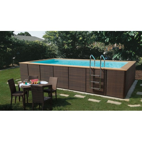 Dolce vita rattan 4x2 m for Piscine 4x2